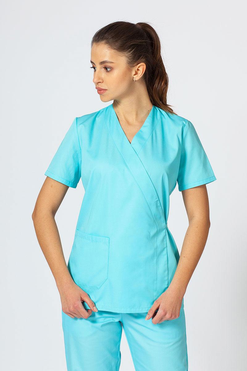 Fartuszek/bluza damska wiązana Sunrise Uniforms aqua