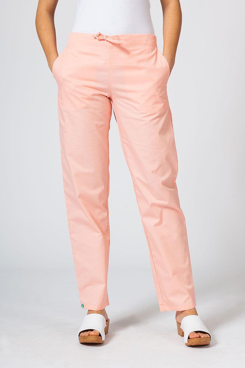 Spodnie medyczne uniwersalne Sunrise Uniforms łososiowe