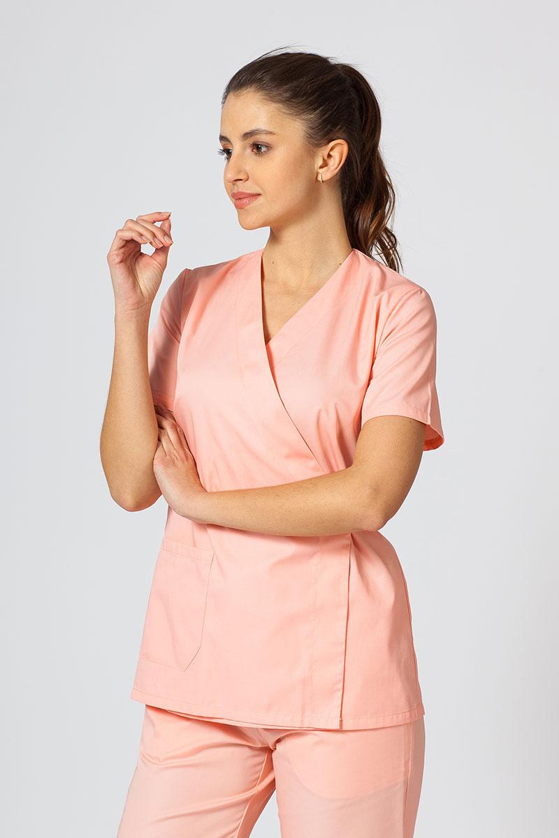 Fartuszek/bluza damska wiązana Sunrise Uniforms łososiowa
