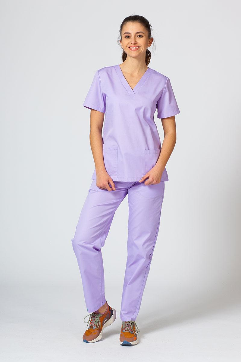 Komplet medyczny Sunrise Uniforms lawendowy (z bluzą taliowaną)