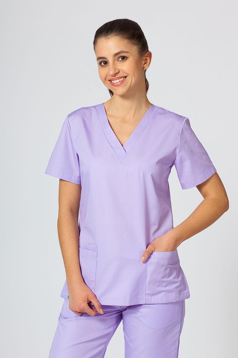 Bluza medyczna damska Sunrise Uniforms lawendowa taliowana