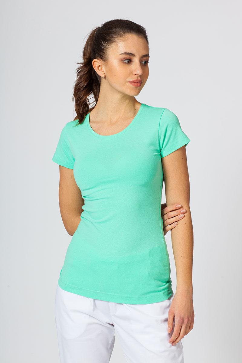 Koszulka damska z krótkim rękawem miętowa