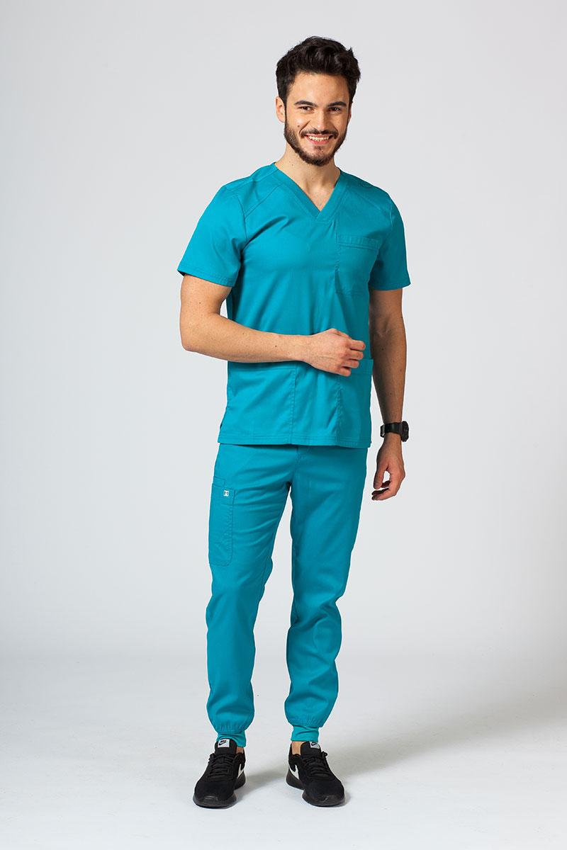 Komplet medyczny męski Maevn Matrix Men Jogger morski błękit