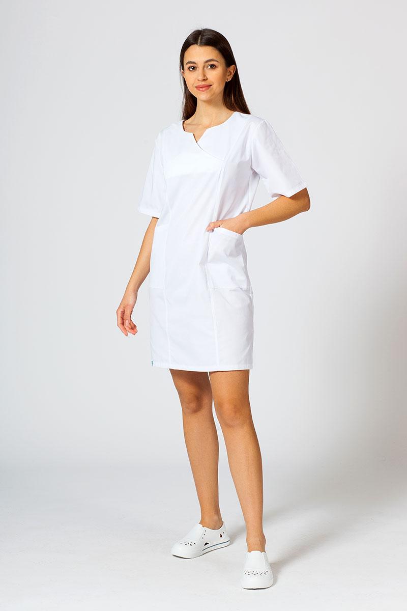 Sukienka medyczna damska klasyczna Sunrise Uniforms biała