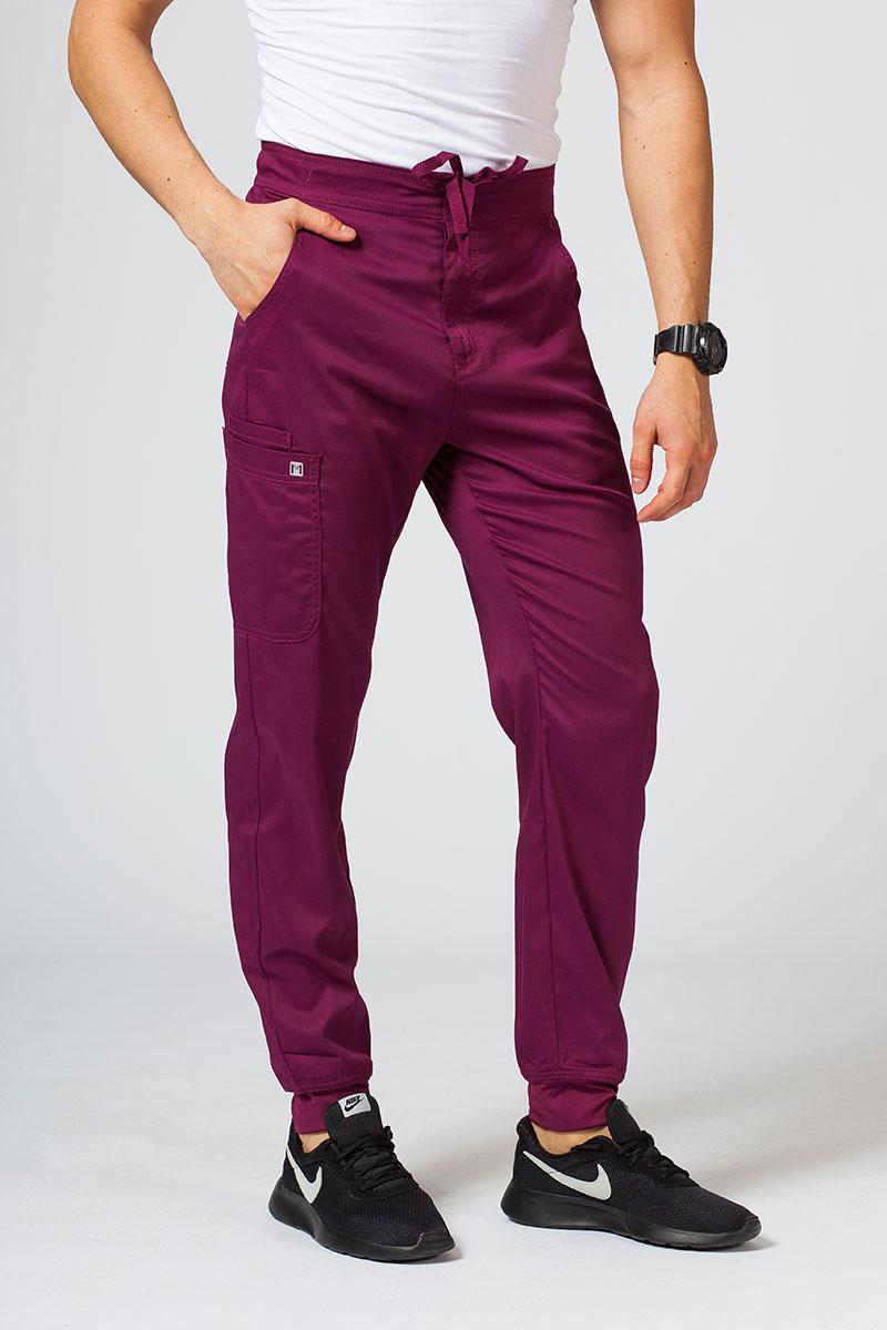 Spodnie męskie Maevn Matrix Men jogger wiśniowe