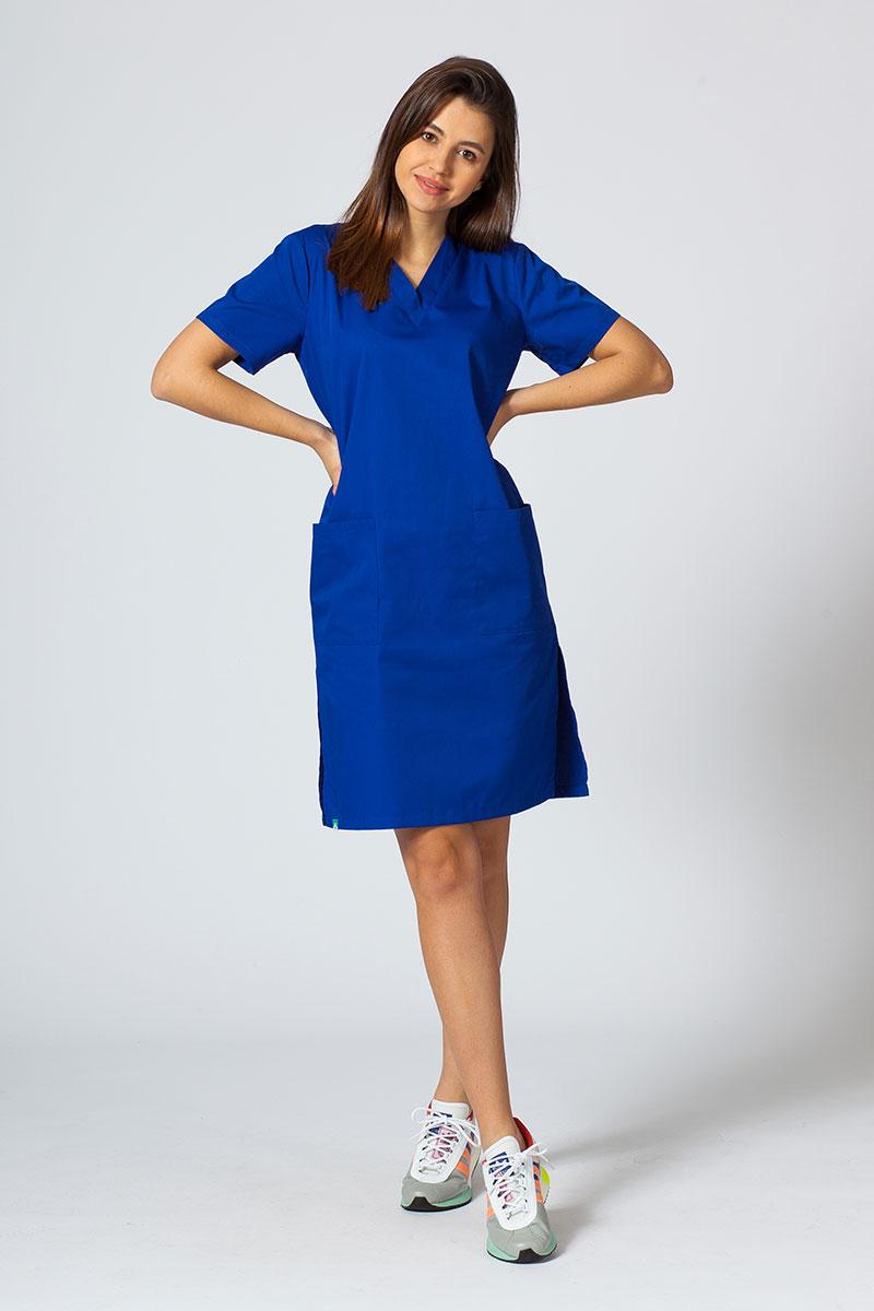 Sukienka medyczna damska prosta Sunrise Uniforms granatowa