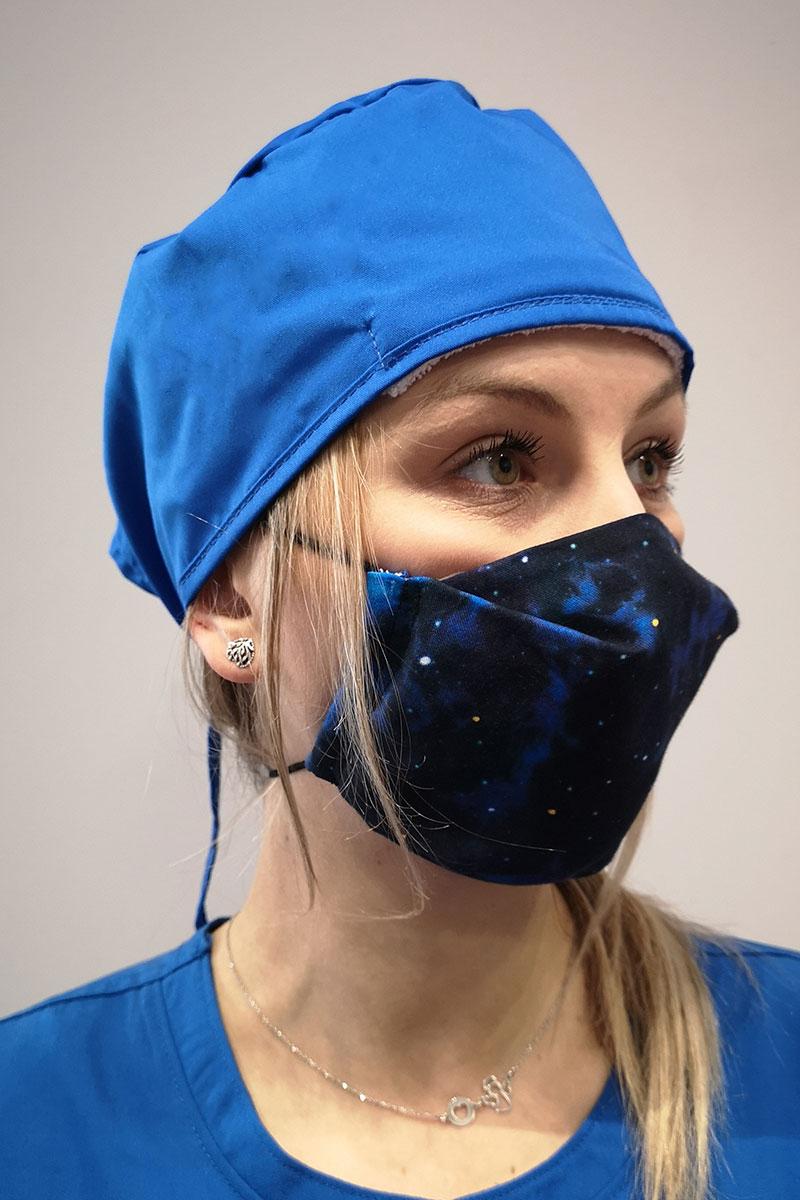 Maska ochronna wielokrotnego użytku z jonami srebra, 2-warstwowa, 100% bawełna, wzór: niebo