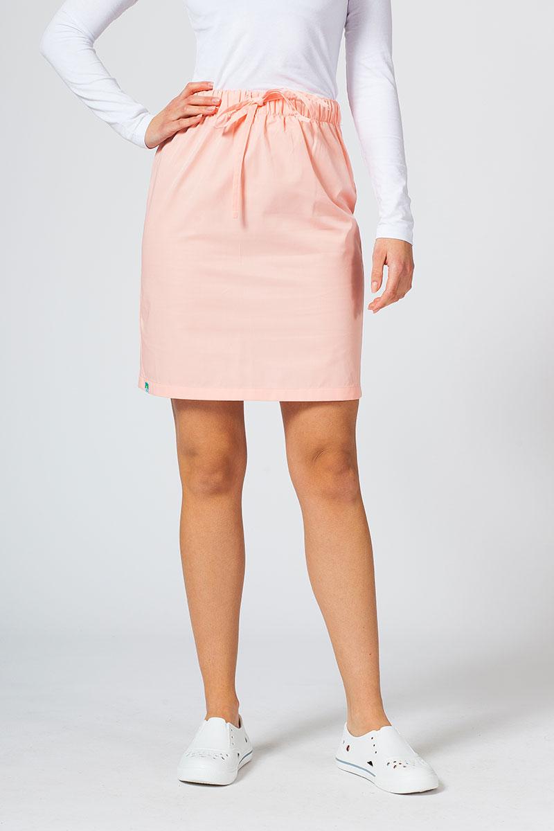 Spódnica medyczna krótka Sunrise Uniforms łososiowa
