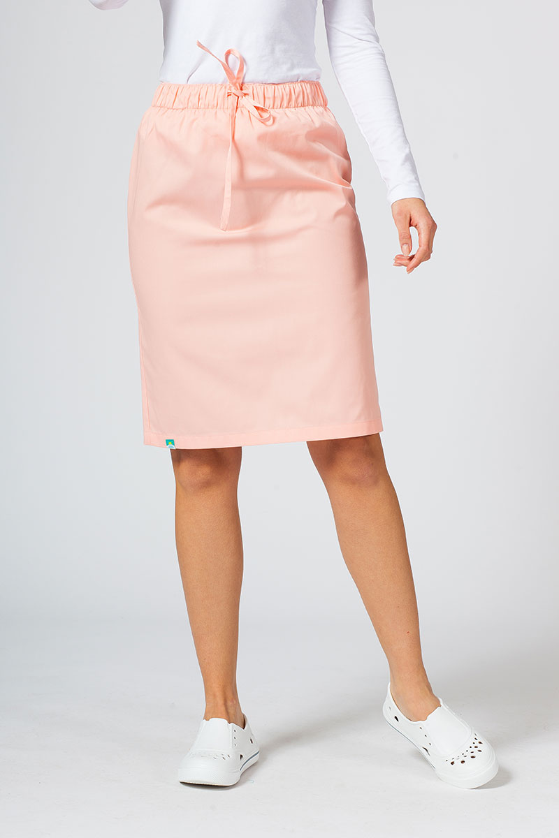 Spódnica medyczna długa Sunrise Uniforms łososiowa