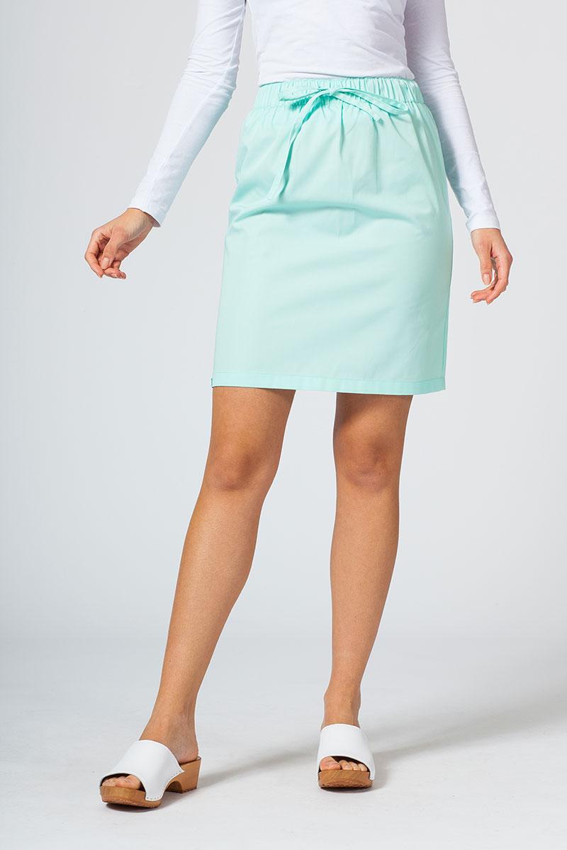Spódnica medyczna krótka Sunrise Uniforms miętowa