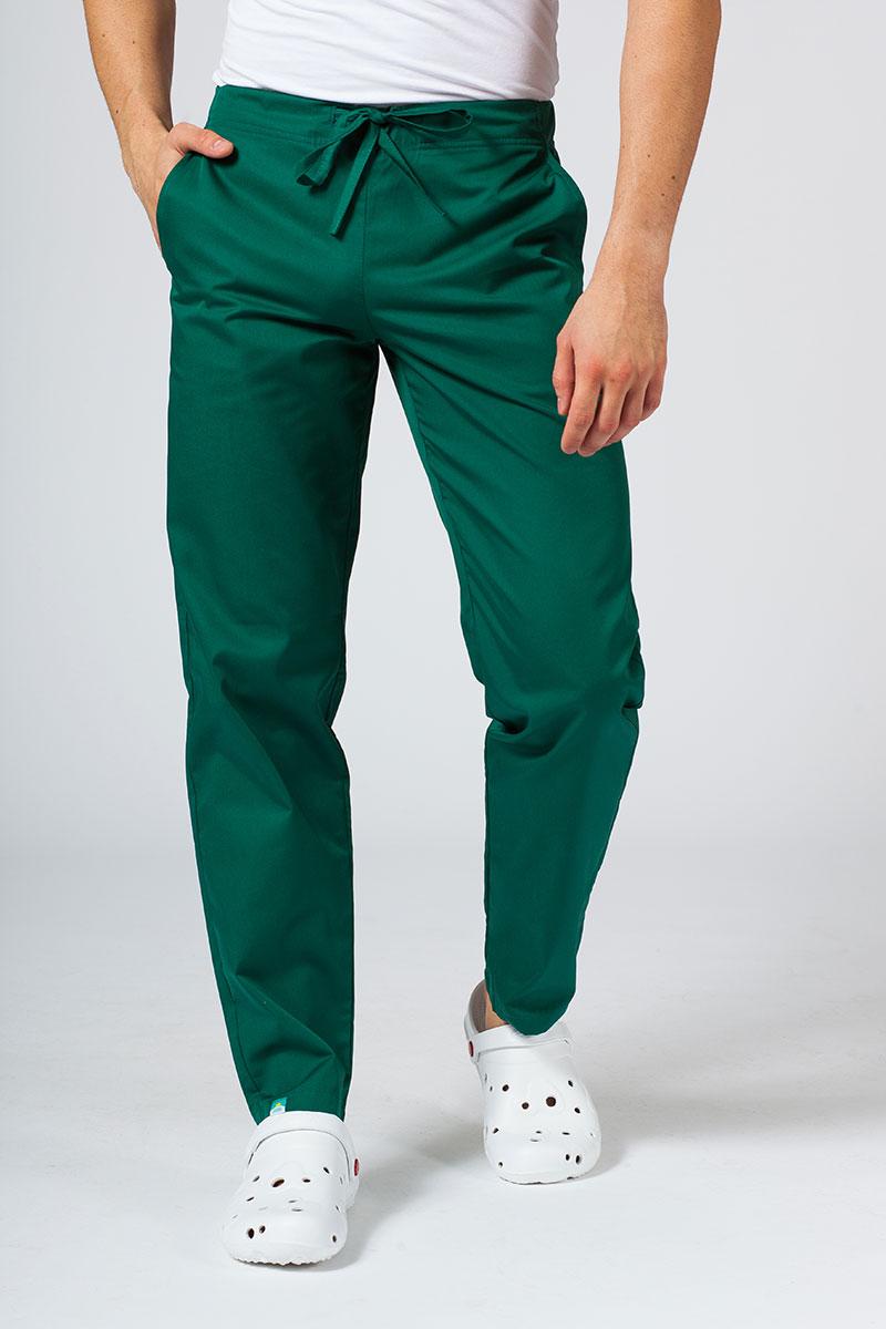 Spodnie medyczne uniwersalne Sunrise Uniforms butelkowa zieleń