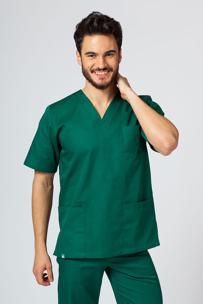 Bluza medyczna uniwersalna Sunrise Uniforms butelkowa zieleń