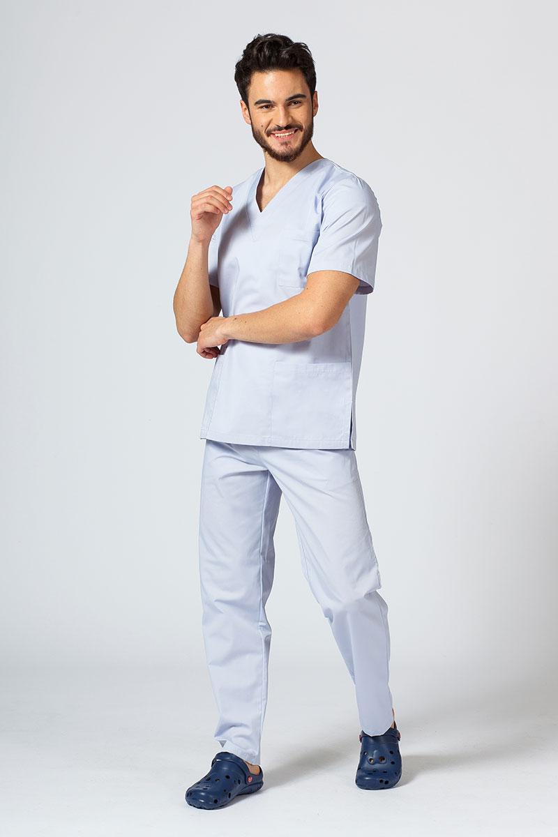 Komplet medyczny męski Sunrise Uniforms popielaty (z bluzą uniwersalną)