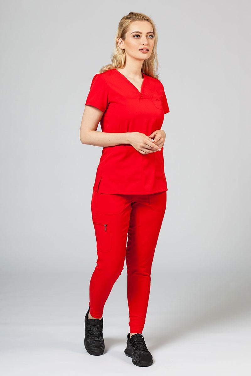 Komplet medyczny Adar Uniforms Ultimate czerwony (z bluzą Sweetheart - elastic)