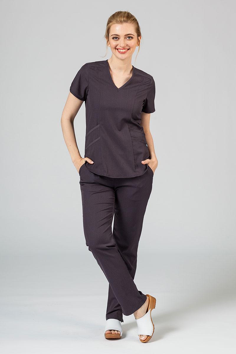 Komplet medyczny Adar Uniforms Yoga grafitowy (z bluzą Modern - elastic)