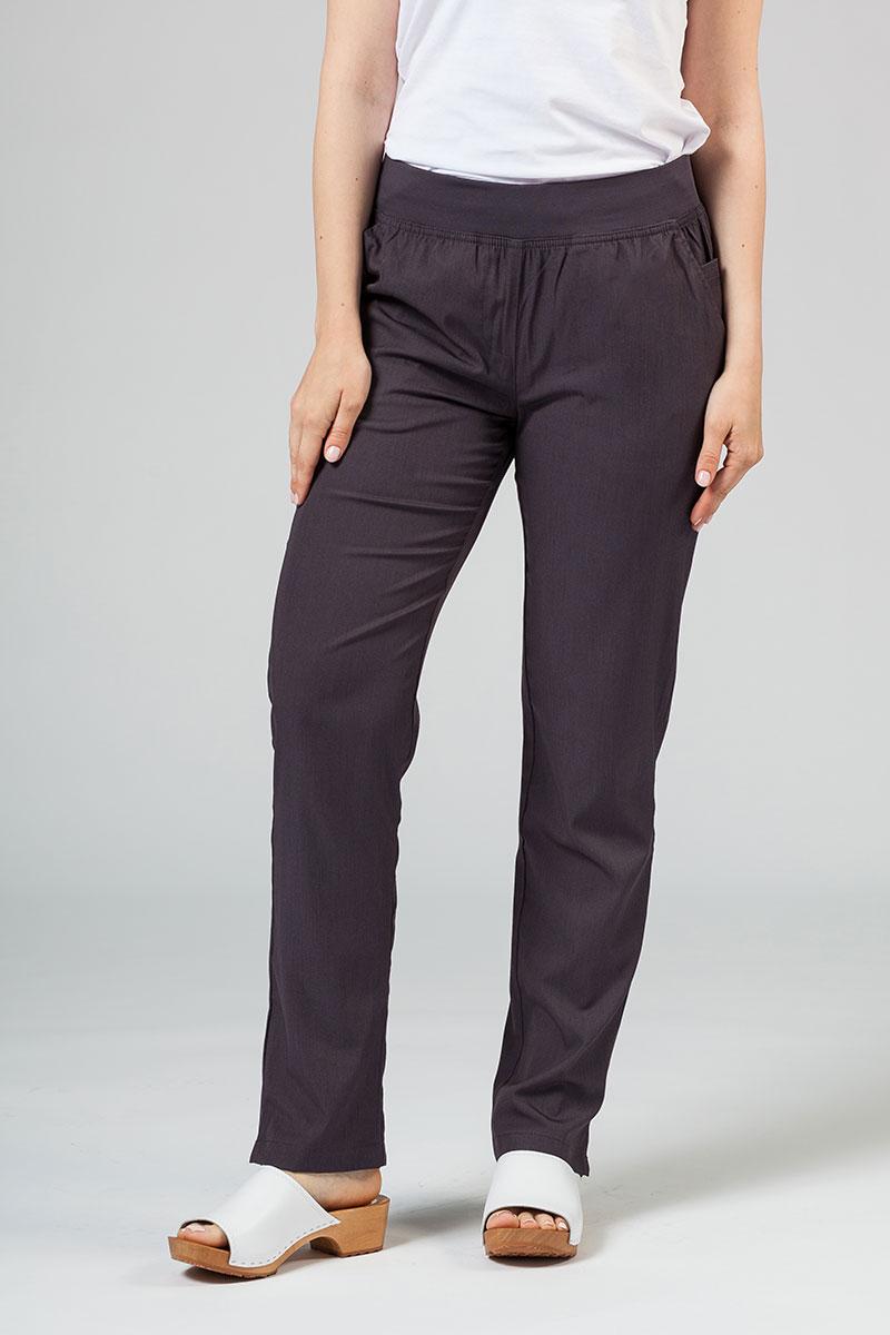 Spodnie damskie Adar Uniforms Leg Yoga grafitowe