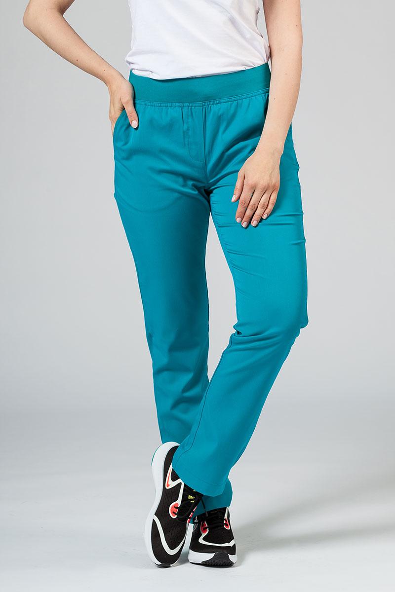 Spodnie damskie Adar Uniforms Leg Yoga morski błękit