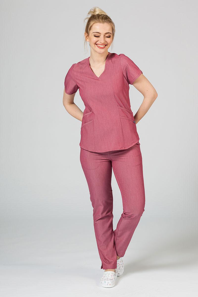 Komplet medyczny Adar Uniforms Yoga wrzosowy (z bluzą Modern - elastic)