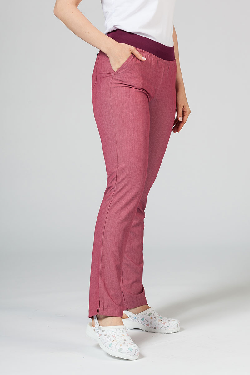 Spodnie damskie Adar Uniforms Leg Yoga wrzosowe