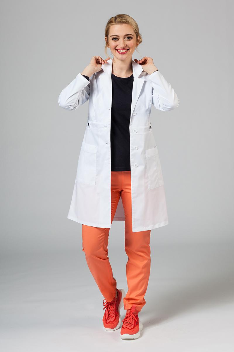 Fartuch medyczny Adar Uniforms Tab-Waist biały (elastic)