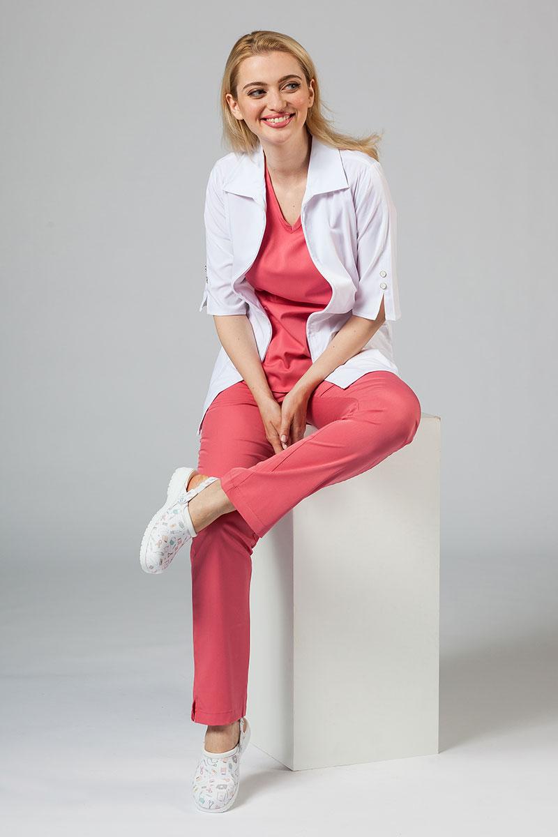 Fartuch medyczny damski Maevn Smart Classic biały (elastic)