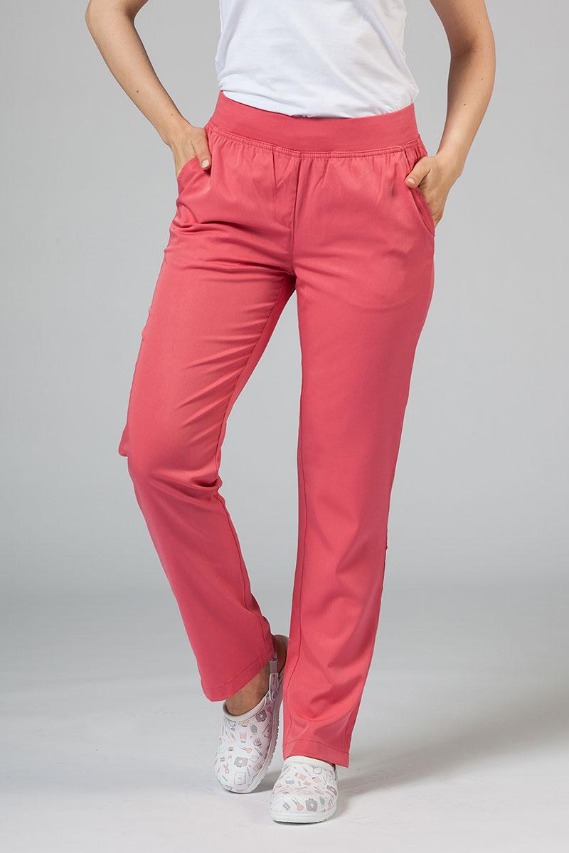 Spodnie damskie Adar Uniforms Leg Yoga różowe