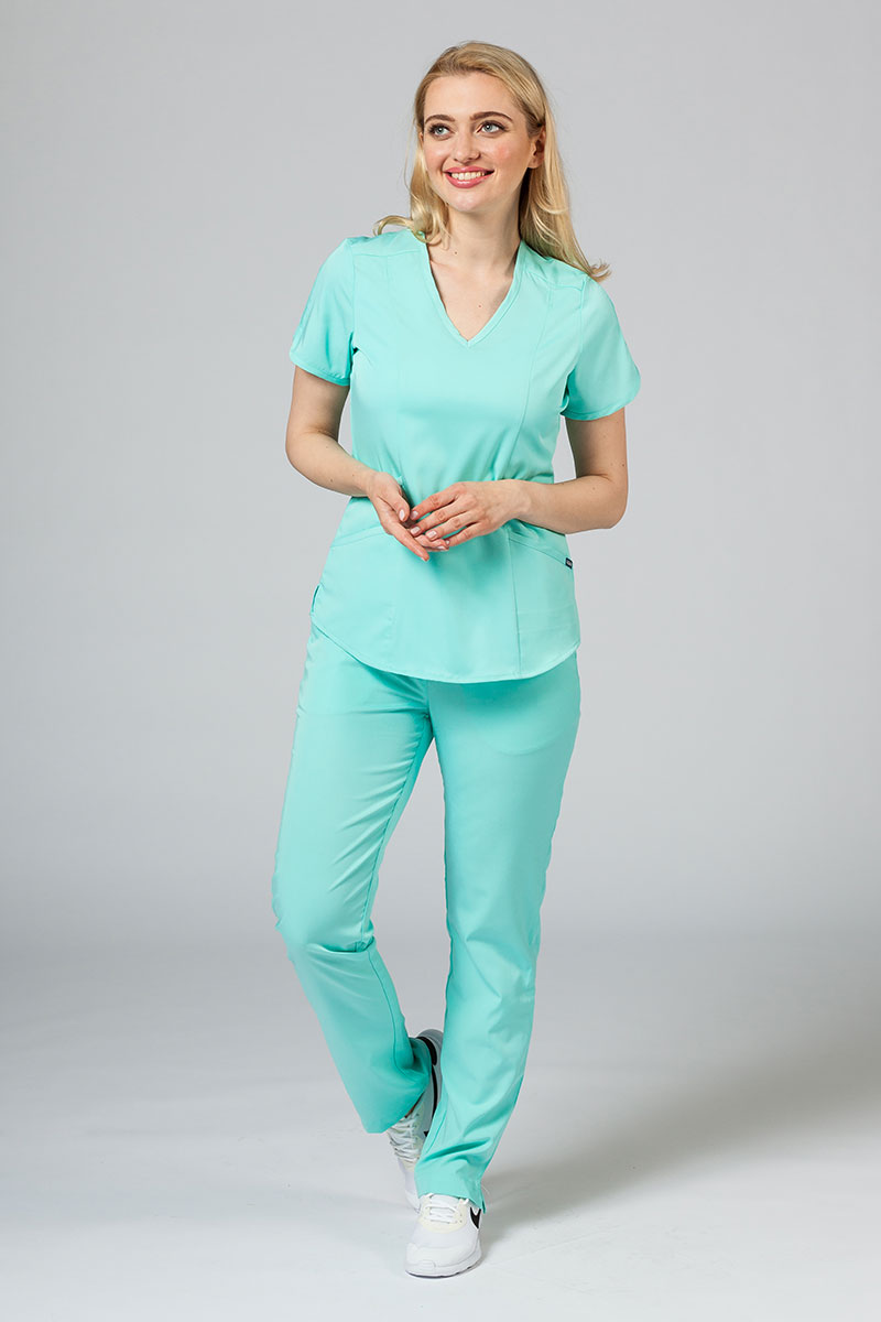 Komplet medyczny Adar Uniforms Yoga aqua (z bluzą Modern - elastic)