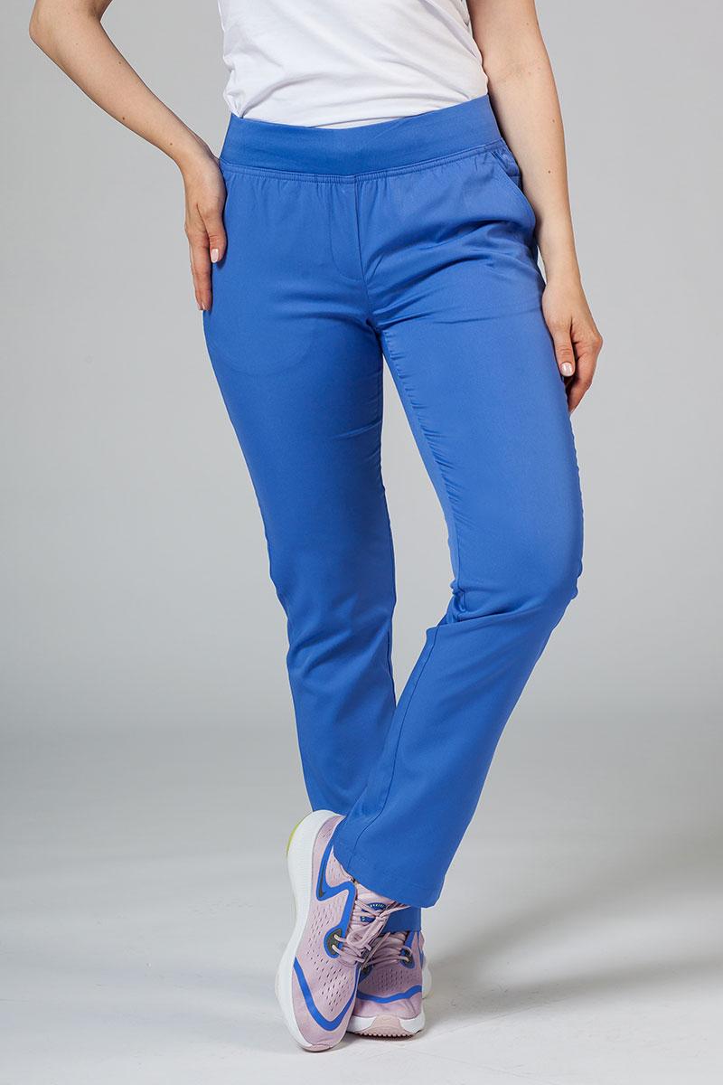 Spodnie damskie Adar Uniforms Leg Yoga klasyczny błękit