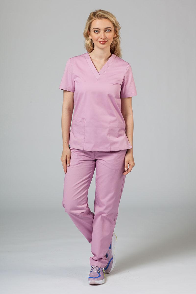 Komplet medyczny Sunrise Uniforms liliowy (z bluzą taliowaną)