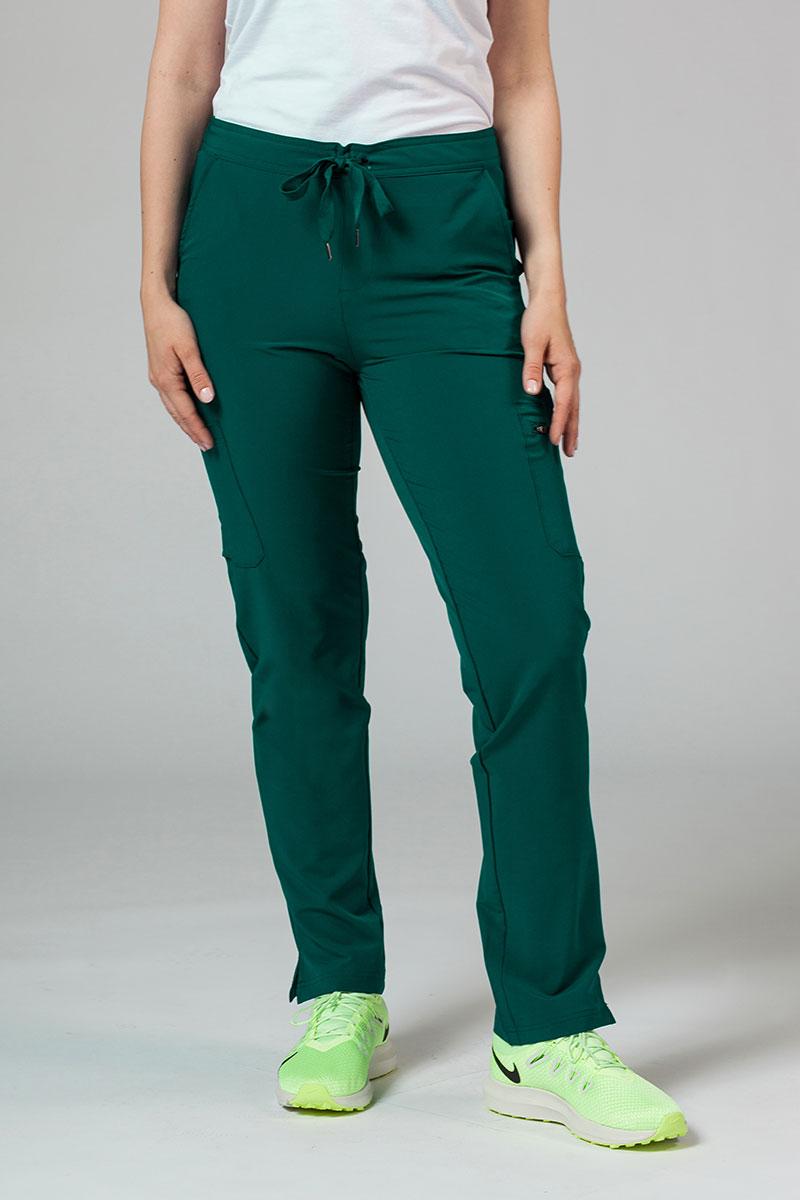 Spodnie damskie Adar Uniforms Skinny Leg Cargo butelkowa zieleń