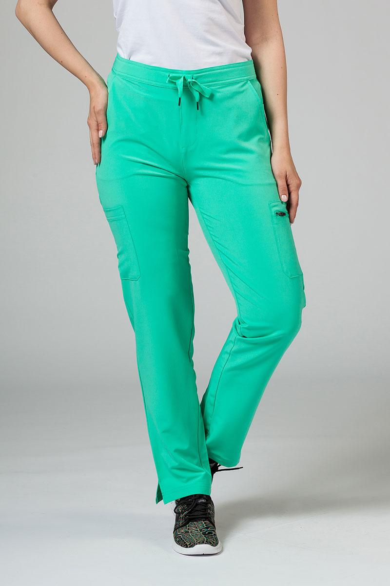 Spodnie damskie Adar Uniforms Skinny Leg Cargo jasnozielone
