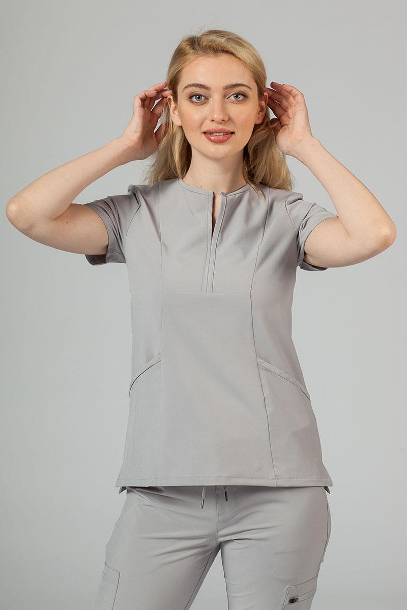 Bluza damska Adar Uniforms Notched popielata