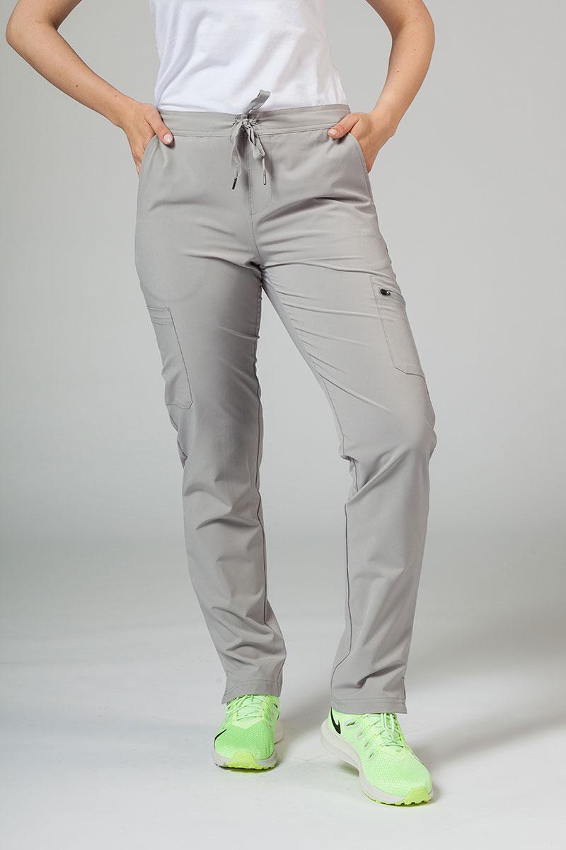 Spodnie damskie Adar Uniforms Skinny Leg Cargo popielate