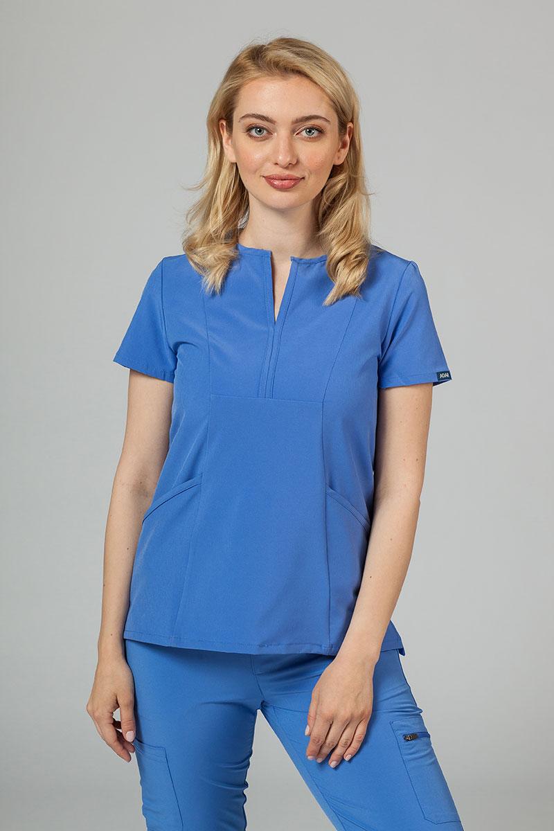 Bluza damska Adar Uniforms Notched klasyczny błękit