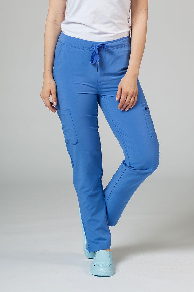 Spodnie damskie Adar Uniforms Skinny Leg Cargo klasyczny błękit