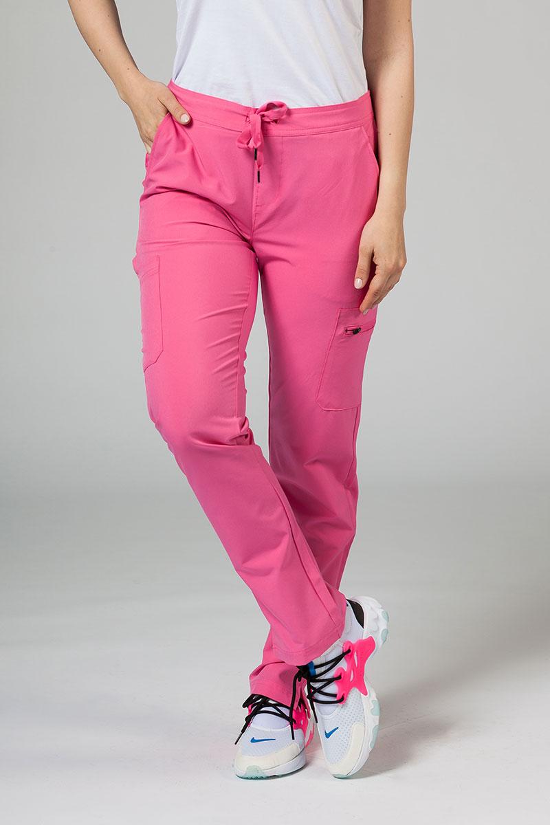 Spodnie damskie Adar Uniforms Skinny Leg Cargo różowe