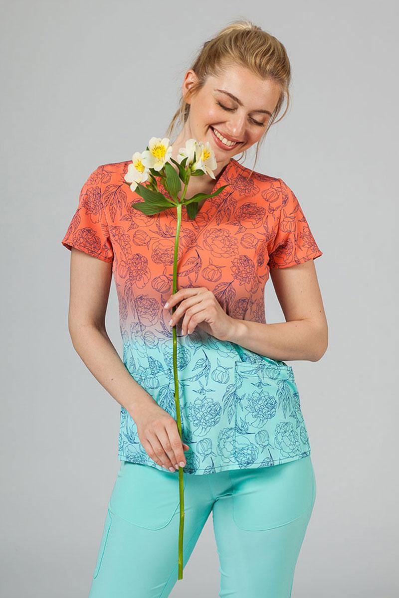 Kolorowa bluza damska Maevn Prints słoneczne kwiaty