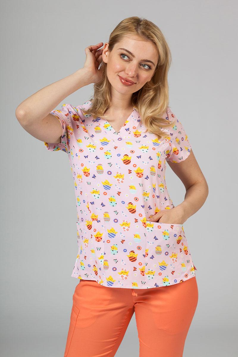Kolorowa bluza damska Maevn Prints pisklęta