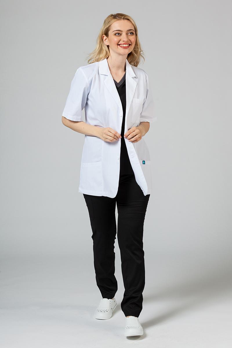 Fartuch medyczny Adar Uniforms Consultation (krótki rękaw) biały