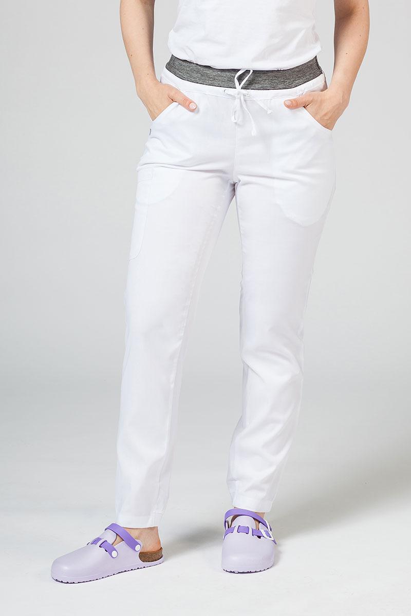 Spodnie damskie Maevn Matrix białe