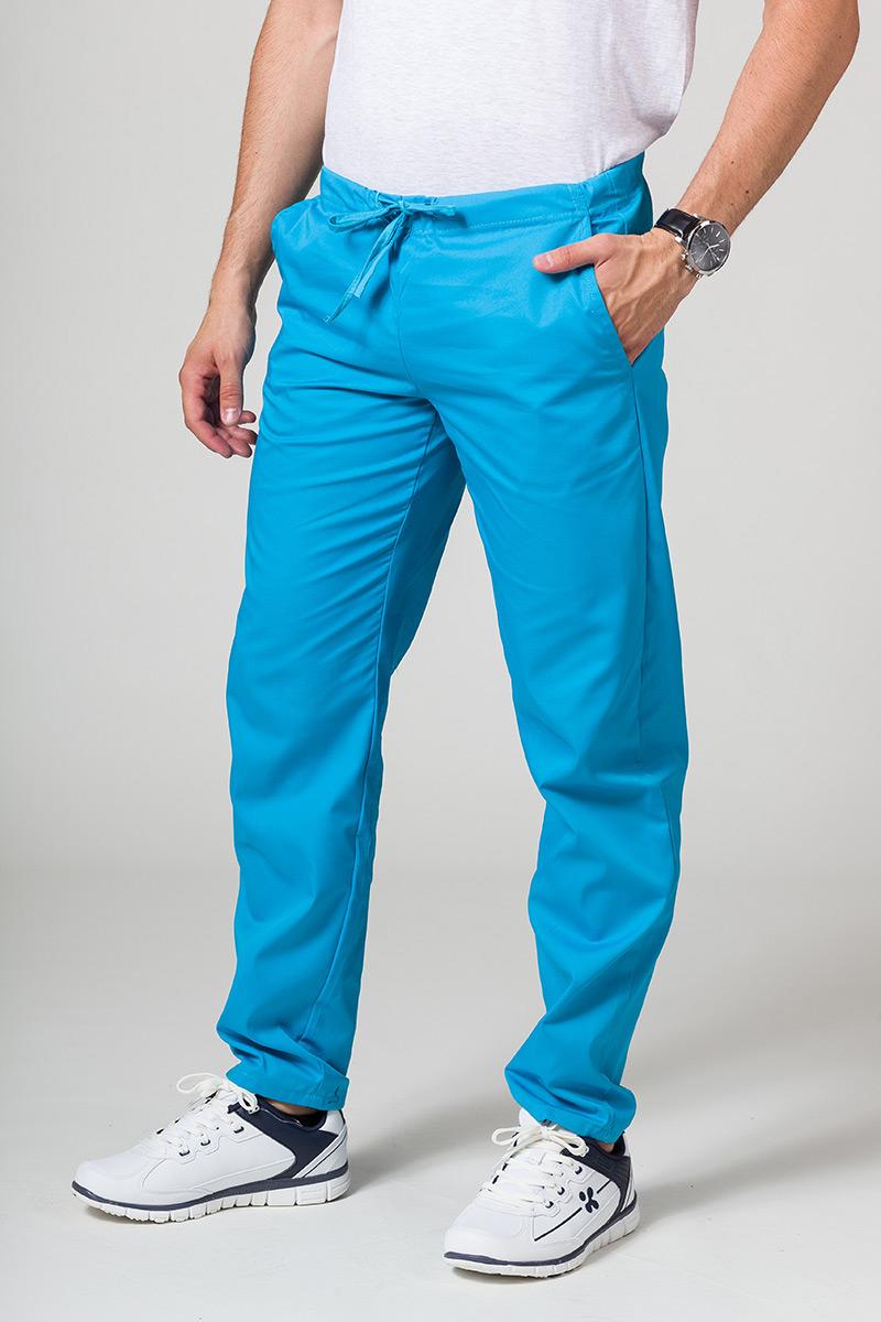 Spodnie medyczne uniwersalne Sunrise Uniforms turkusowe