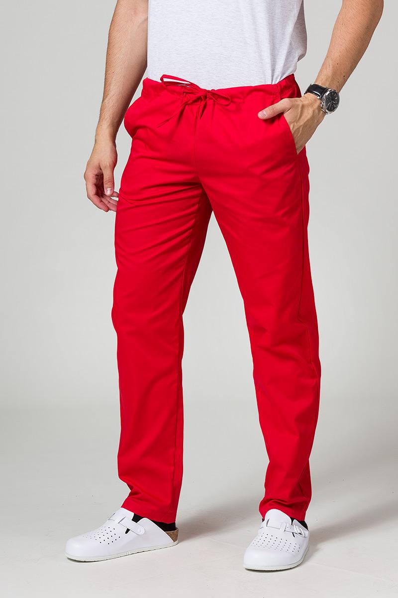 Spodnie medyczne uniwersalne Sunrise Uniforms czerwone