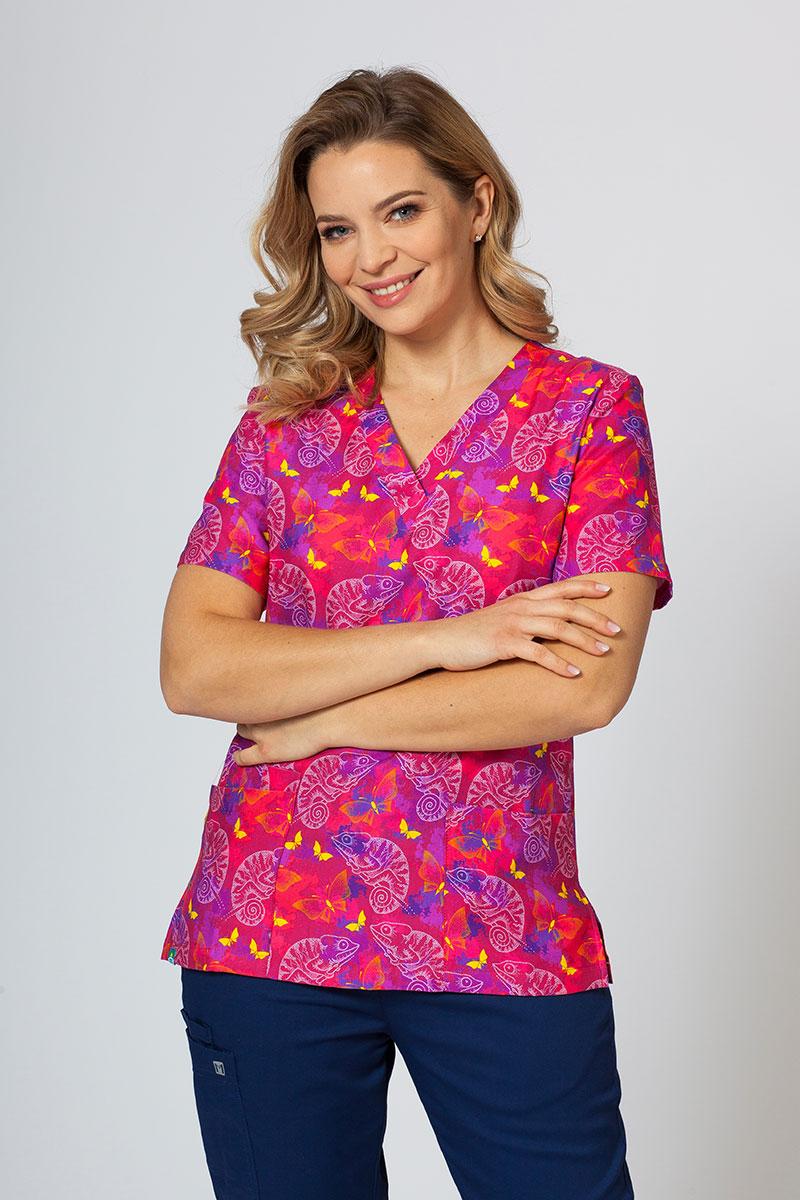 Kolorowa bluza we wzory Sunrise Uniforms kameleony