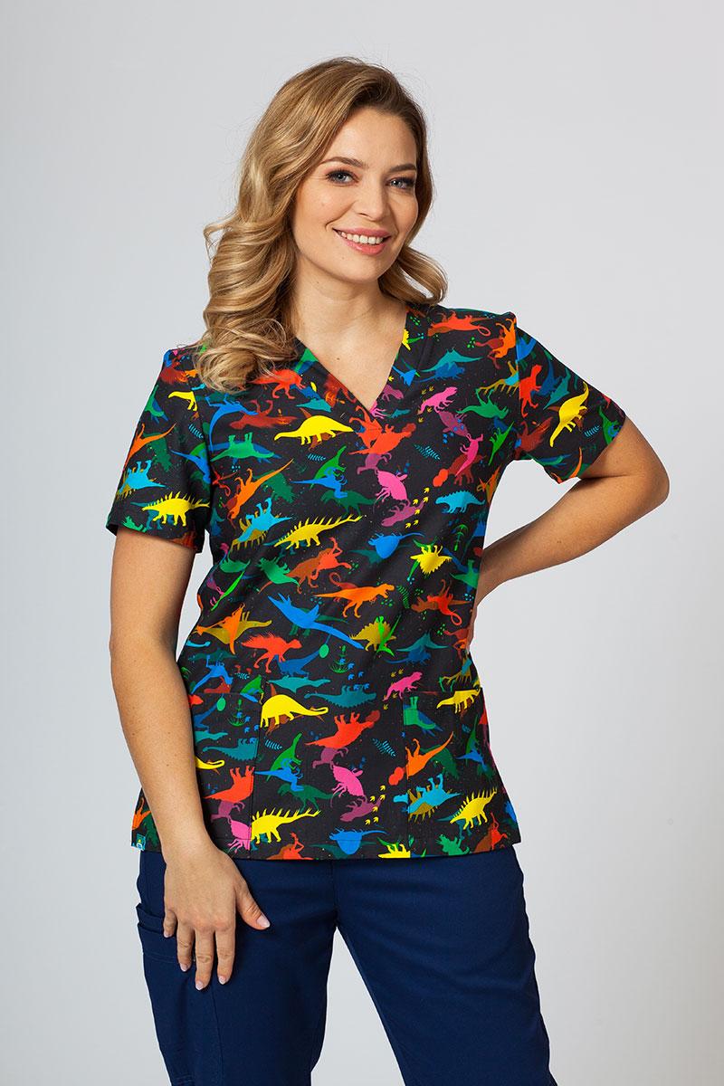 Kolorowa bluza we wzory Sunrise Uniforms dinozaury