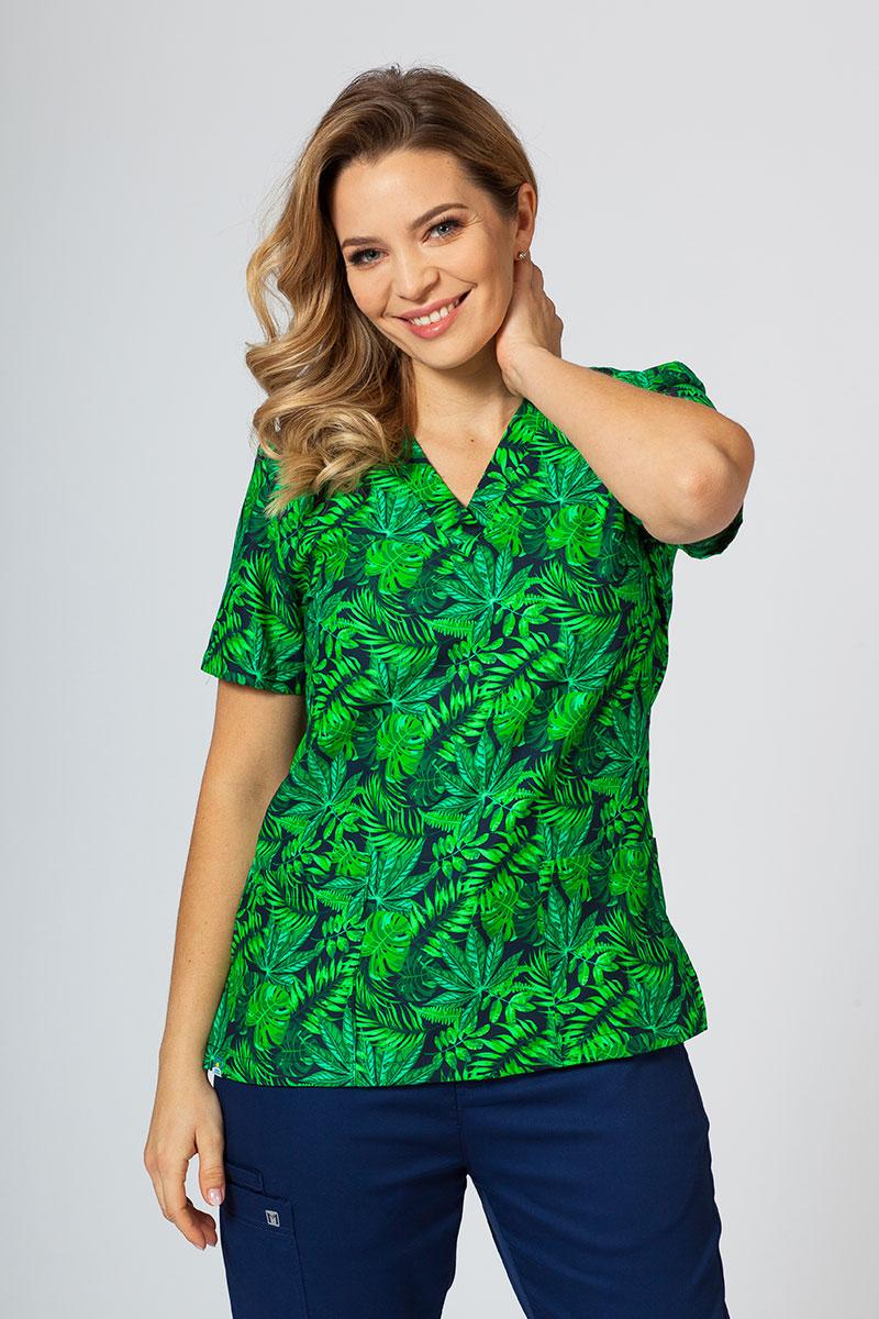 Kolorowa bluza we wzory Sunrise Uniforms zielone liście
