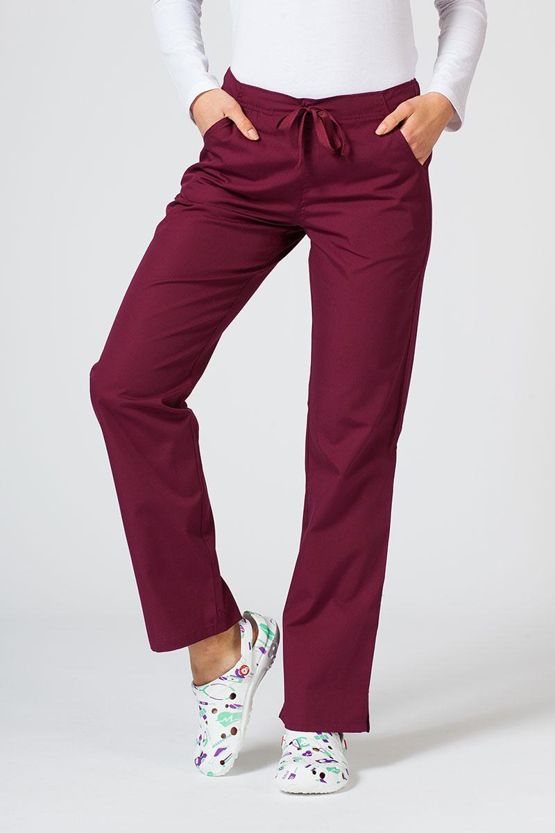 Spodnie damskie Maevn Red Panda wiśniowe