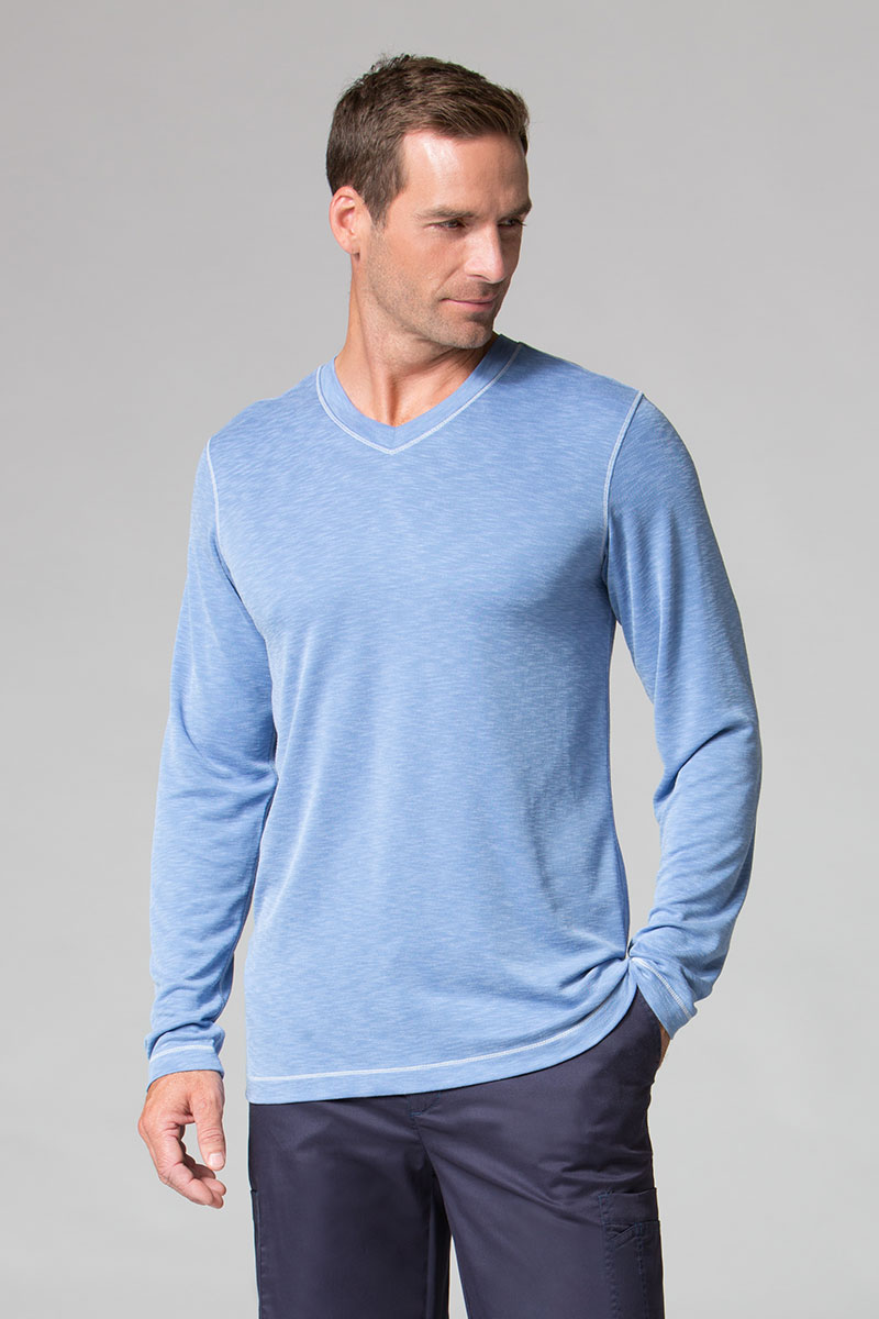 Koszulka męska z długim rękawem Maevn Modal niebieska