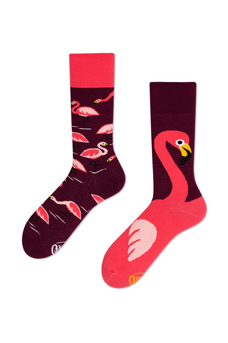 Kolorowe skarpetki Pink Flamingo - Many Mornings