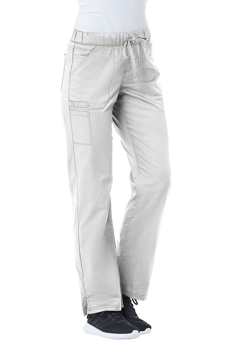 Spodnie medyczne damskie Maevn PrimaFlex białe