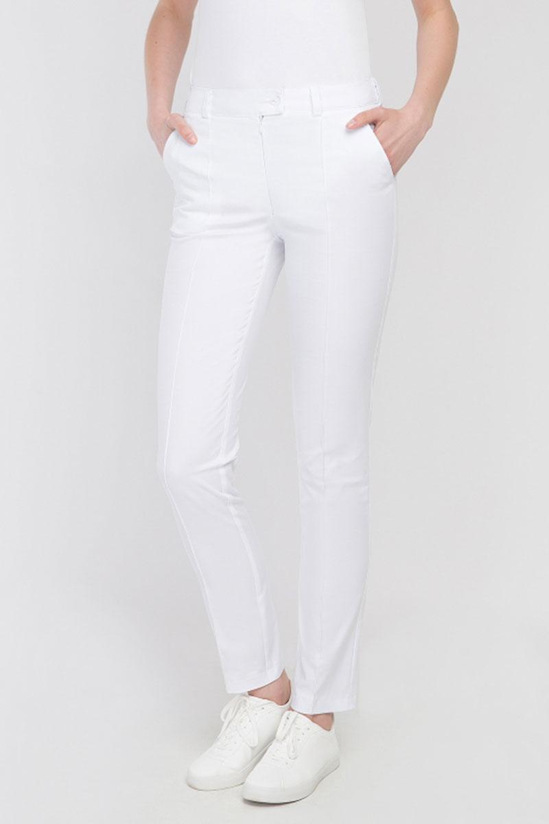 Spodnie medyczne rurki Vena Cindy białe